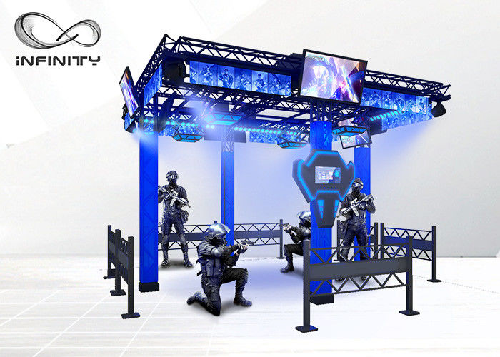 220V 9D Virtual Reality Walking Platform Multiplayer Interactive VR Shooting Games fournisseur